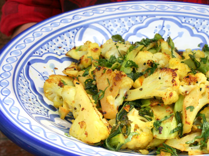 Cauliflower with panch pooran