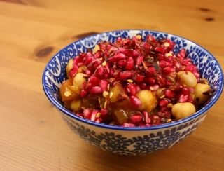 Chana Masala with Pomegranate