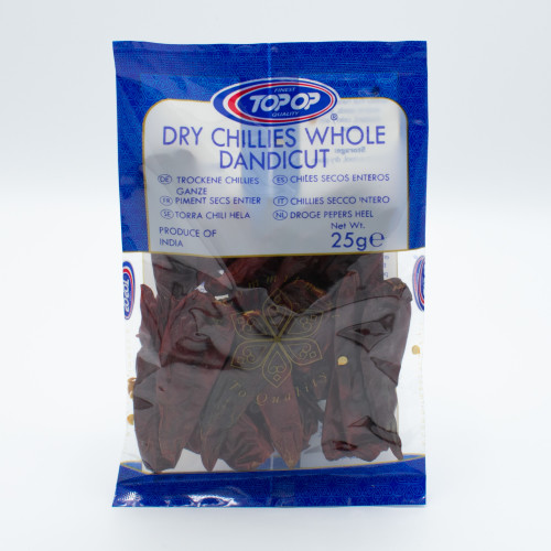 Whole Dried Red Chillies 25g