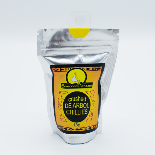 Seasoned Pioneers Crushed De Arbol Chillies 18g